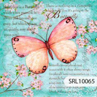 Servilletas decoradas 10 Mariposas