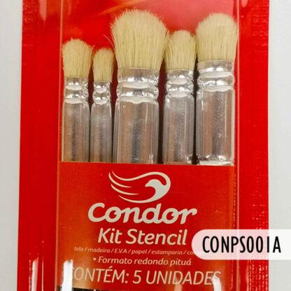 Kit Pinceles Stencil Cóndor 5 pz, S69
