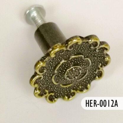 Botón roseta latón viejo 25 mm, S69