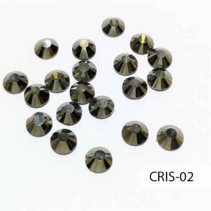 Cristales Tipo Swarovski Gris, S69