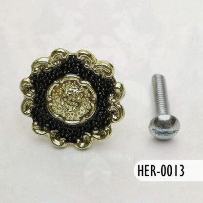 Botón Zafiro y Oro 25 mm, S69