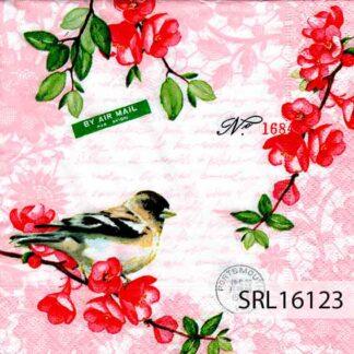 Servilletas decoradas 16 Pájaros