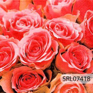 Servilletas decoradas 07 Flores
